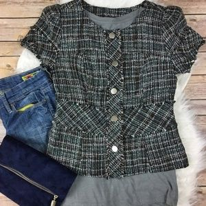 Mossimo Supply Co Tweed Short Sleeve Blazer Jacket